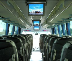 school coach trip with tv